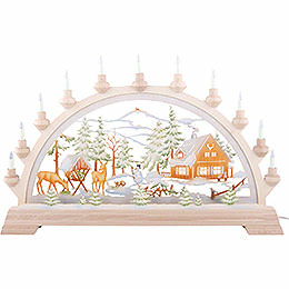 Candle Arch - Forester's House, Colored - 65x40 cm / 26x17.5 inch