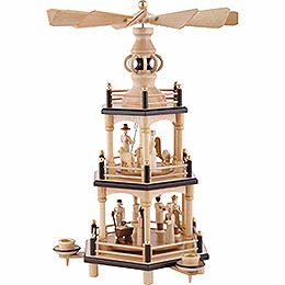 3-Tier Pyramid - Christmas, Natural - 35 cm / 13.8 inch