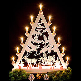 Light Triangle - St. Nick with Sleigh - 66 cm / 26 inch