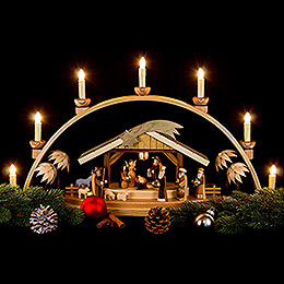 Candle Arch - Nativity Natural, Electric - 66x36 cm / 26x14 inch