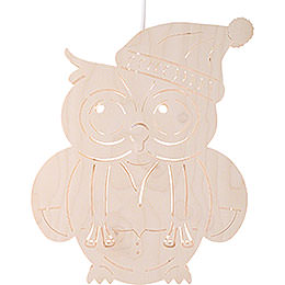 Window Picture - Owl - 28 cm / 11 inch
