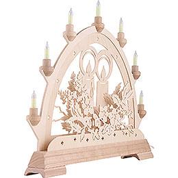 Schwibbogen Kerze - 48 cm