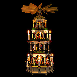 4-Tier Pyramid - Nativity Scene with Musical Mechanism - 70 cm / 27.6 inch