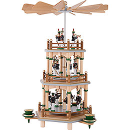 3-Tier Pyramid with Miners Parade - 35 cm / 13.8 inch