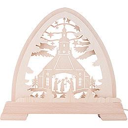 Gotischer Bogen Seiffener Kirche - 40x37 cm