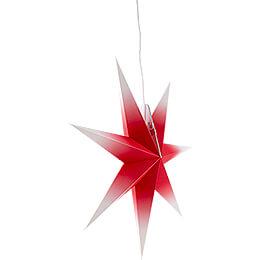 Erzgebirgischer Fensterstern rot-weiß - 53 cm