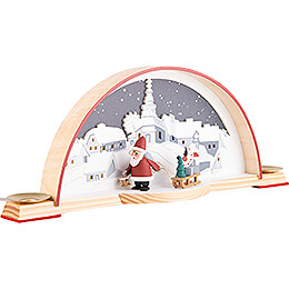 Candle Arch with Santa - 33x14 cm / 13x5.5 inch
