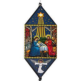 Weihnachtslaterne Christi Geburt - 40 cm