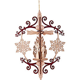 Tree Ornament - Snowflake Miner, Angel and Smoker - 14 cm / 5.5 inch