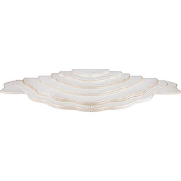Cloud Landscape - 2-Tier Base - White/Gold - 32,5×16×2,4 cm / 12.8×6.3×0.9 inch