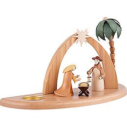Candle Holder - Nativity Scene - 17 cm / 7 inch