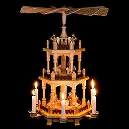 3-stöckige Pyramide Zur Weihnacht - 45 cm