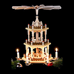 3-Tier Pyramid - Merry Christmas - 41 cm / 16 inch