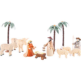 Figurines for 3-Tier Pyramid - NATIVITY (coloured) - 23 pcs.