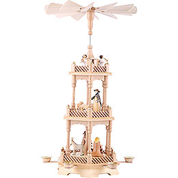 3-Tier Pyramid - Nativity Figurines - Colored - 56 cm / 22 inch