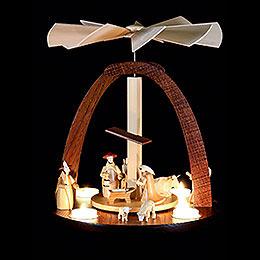 1-stöckige Pyramide mit Krippenfiguren 33 cm