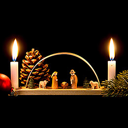 Miniature Candle Arch - Nativity Scene - 22x7,5 cm / 8.7x3 inch