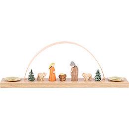 Miniaturbogen mit Krippenfiguren - 22x7,5 cm