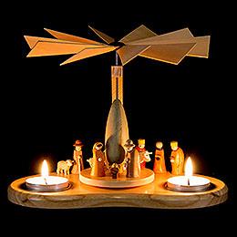 1-stöckige Bogenpyramide Miniaturkrippe - 17 cm