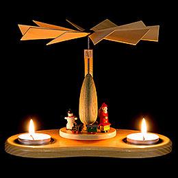 1-stöckige Pyramide Kinderpyramide mit Teelicht - 17 cm