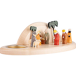 Candle Holder - Nativity - 6 cm / 2.4 inch