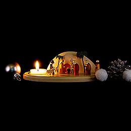 Kerzenhalter Krippe Felsengrotte - 6 cm