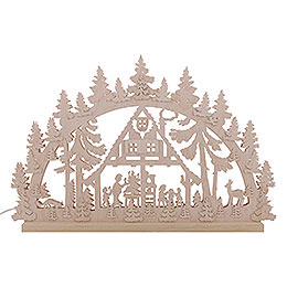 3D Double Arch - Forest Hut - 74x47x5,5 cm / 29x18x2 inch