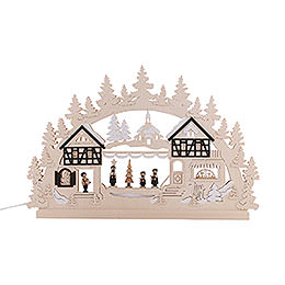 3D Double Arch - Seiffen Christmas Fair - 74x47x5,5 cm / 29x18x2 inch