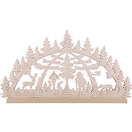 3D-Doppelschwibbogen Waldmotiv - 72x40x5,5 cm