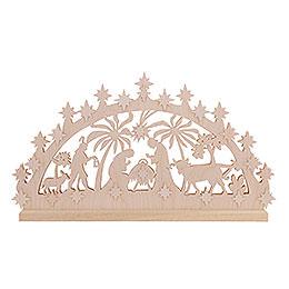3D Double Arch - Nativity Motif - 72x40x5,5 cm / 28x16x2 inch