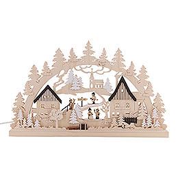 3D Double Arch - Erzgebirge Village - 62x37x5,5 cm / 24x14x2 inch