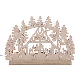 3D Double Arch - Forest Hut - 42x30x4,5 cm / 16x12x2 inch
