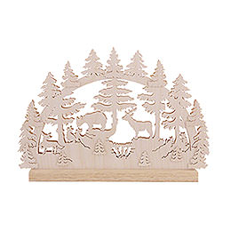 3D Double Arch - Animals in Forest - 42x30x4,5 cm / 16x12x2 inch
