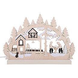 3D Double Arch - Sawmill - 42x30x4,5 cm / 16x12x2 inch