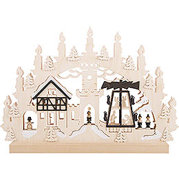 3D Double Arch - Pyramid Singers - 42x30x4,5 cm / 16x12x2 inch