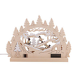 3D Double Arch - Winter Countryside - 42x30x4,5 cm / 16x12x2 inch