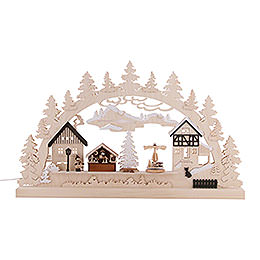 Candle Arch - Christmas Village - 62x37x5,5 cm / 24x14x2 inch