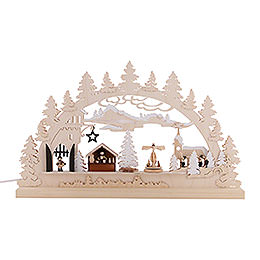 Candle Arch - Village Christmas - 62x37x5,5 cm / 24x14x2 inch