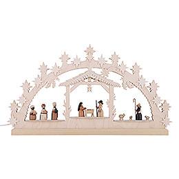 Candle Arch - Nativity Scene - 72x40x5,5 cm / 28x16x2 inch