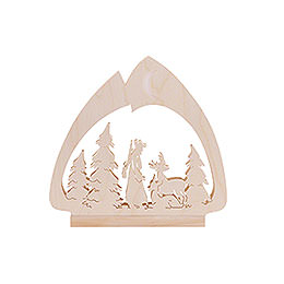 Candle Arch - LED-Leuchter Jäger - 30x28,5x4,5 cm / 12x11x2 inch