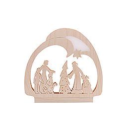 Candle Arch - LED- Santa - 30x28,5x4,5 cm / 12x11x2 inch