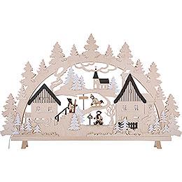 Candle Arch - Erzgebirge Scene - 125x82x16 cm / 49x32x6 inch
