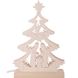 Light Triangle - Nativity Scene - LED - 23.5x15.5x4.5 cm / 9.06x5.91x1.57 inch