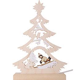 Lichterspitze Mini-Baum Rodler - 23,5x15,5x4,5 cm
