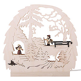 LED Candle Arch - Forest Theme - 30x28.5x4.5 cm / 11.81x11.02x1.57 inch