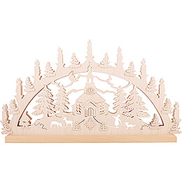 Candle Arch - Church of Seiffen - 72x40x5.5 cm / 28.4x15.6x2 inch