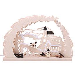 3D-Schwibbogen Rodelberg - 41x27x4,5 cm