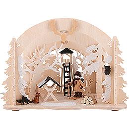 Raumleuchte als Diorama Wildfütterung - 19 cm