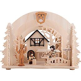Raumleuchte als Diorama Werkstatt - 26x19 cm