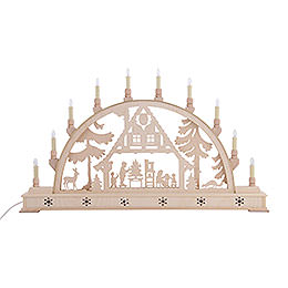 Candle Arch - Christmas House with Base - 78x45 cm / 31x18 inch